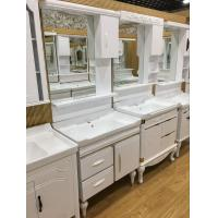 Quality Floor Mounted PVC Bathroom Washbasin Cabinet With Painting ISO Standard 80cm wholesale