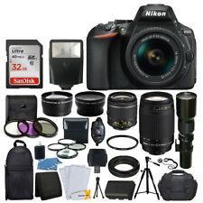 China Cheap Nikon D5600 DSLR Camera w/ 18-55mm VR + 70-300mm VR + 500mm +32GB on sale