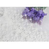 China Wide Handmade Flower Embroidered Tulle Lace Trim For Winter Wedding Dressmaking on sale