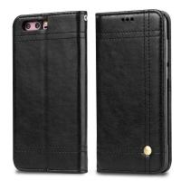 Quality Huawei Honor 9 Magnetic Leather Case Black Book Style Two Card Slot 68.9g wholesale
