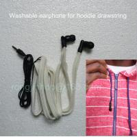 Quality China supplier Washable headphone woven tap earphone for garment drawstring wholesale