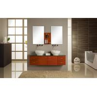 Quality Ceramic basin double sink floating vanity 150/130 X 48 / cm , transitional bathroom vanities 22 doors wholesale