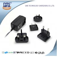 Quality US AU UK EU Interchangeable plug Wall Mounted 24W AC DC Power Adapter With LED Light wholesale