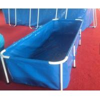 Quality 10000L 1.2mm Outdoor Fish Pond High Tensile With Metal Frame Eco-Friendly wholesale