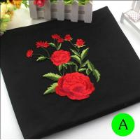 Quality Polyester Embroidered Iron On Patches Appliques With Boutique Rose Flower 19*14 cm wholesale