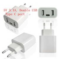 Quality Double USB Type C Port Universal Usb Travel Charger USB Wall Charger 5V 3.1A wholesale