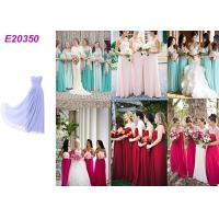 Quality Long Chiffon Wedding Bridesmaid Dresses For Guest Wedding Party Multi Color Optional wholesale