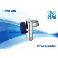 China Polished Chromed Brass Angle Valve Toilet With Plastic Blue Handle on sale