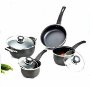Quality carbon steel non-sitck cookware set wholesale