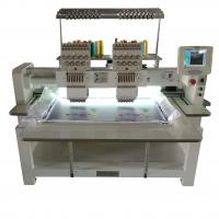 Quality Cap Automatic Double Head Embroidery Machine , T Shirt Embroidery Machine wholesale