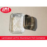 Quality Rectangle Foil Tray Lids Aluminium Coated Laminated Paper Board Material wholesale