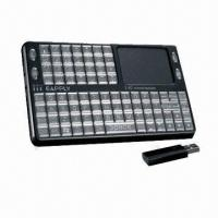 China 2.4GHz Wireless Mini Keyboard with Mouse Pad, 10m Remote Control Range and 3 LED Indicator Lights on sale
