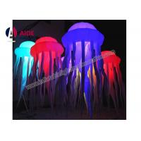 Cheap Lighting Effects Inflatable Lawn Decoration , Octopus Inflatable Balloon Decoration for sale