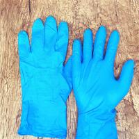China Blue  3.0g/3.5g/4.0g/4.5g/5.0g texfured finger Disposable Nitrile Gloves XS, S,M,L,XL,XXL for non-medical use on sale