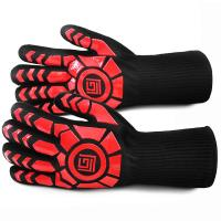 Quality Aramid Fiber Plus Heat Resistant Work Gloves Non Slip Silicone Cotton Lining wholesale