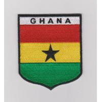 Quality Sew-on, 5CM X 7CM, 100% twill embroidered national flag patches, five thread colors wholesale