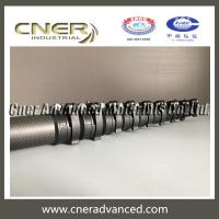 China Carbon fiber telescopic pole for window cleaning pole with clamps on sale