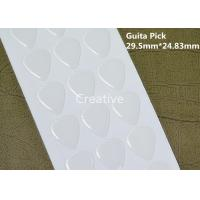 China Guitar Pick Clear Epoxy Stickers / Crystal Clear Epoxy Resin 29.5mm X 24.83mm on sale
