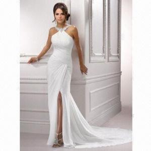 Quality Chiffon Sexy Halter Brand New Prom Bridal Dress wholesale