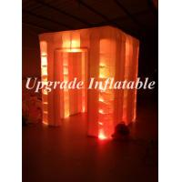 Quality free shipping inflatable photo booth cube tent inflatable promotional booth with led wholesale