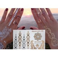 Quality Jewelry Inspired Metallic Body Tattoo Stickers Hand Bracelets Designs wholesale