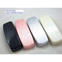 Quality Custom Optical Glasses Case PU Leather / PVC Leather Material With Silk Screen wholesale