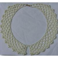 Quality Various White Hand knit retiary pearl bead collar for women / lady's dress wholesale