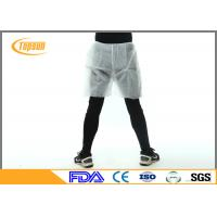 China Safety Waterproof Disposable Shorts PP Non Woven Boxer For Mens SPA on sale