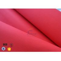 Cheap Red Acrylic Coated Fiberglass Fabric For Industrial Fire / Welding Blanket for sale