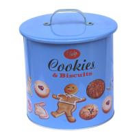Buy cheap Jala Cookies / Biscuits Food Grade Tin Containers With Handle On The Top product