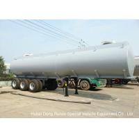 Quality Steel Lined PE Road Chemical Tank Trailers For Transport Bleach , Hydrochloric Acid wholesale