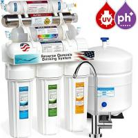 Quality CE certificate household pre-filtration 7 stages undersink with UV lamp PH 8.5 ro water filter wholesale