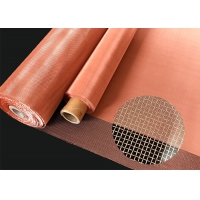 China Faraday RF Knitted Wire Mesh Tape 1.8mm Copper Mesh Fabric on sale