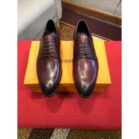 China Louis Vuitton 2019 Men's Wine Red Leather Dress Business Shoes on sale