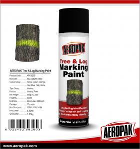 China Aeropak Quick Dry Aerosol Tree Log Marking Paint For Wood on sale