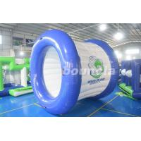 Quality 0.9mm PVC Tarpaulin Blue and White Color Inflatable Water Roller For Sale wholesale