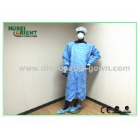 Quality Waterproof Blue Medical Disposable Isolation Gown Breathable 50gsm wholesale