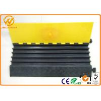 Quality Recycling Rubber Base Yellow Cover 5 Channel Cable Cover Ramp Wire Protection 900*500*50mm wholesale