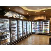 China Efficient Upright Glass Door Freezer Supermarket Display Freezer CE Certification on sale