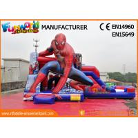 Quality PVC Tarpaulin Commercial Bouncy Castles Spiderman Inflatable Bouncer Slide wholesale