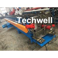 Quality 0-15m/Min Forming Speed Downpipe Machine, Rainspout Roll Forming Machine With Coil Thickness 0.4-0.6mm wholesale