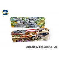Quality Cartoon Animal 3D Stationery Flip Effect For School , 3D Pencil Case wholesale