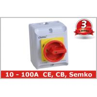 Quality Waterproof IP65 Rotary Isolator Switch / 2 Pole 3 Pole Disconnect Switch wholesale