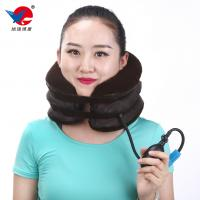 China Universal Inflatable Neck Support Brace Flannel Cervical Collar Free Size on sale