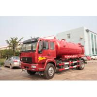 Quality Red 4×2 Sewer Removal Truck/ Septic Vacuum TrucksWith Volume 10 M3 Tank \ wholesale