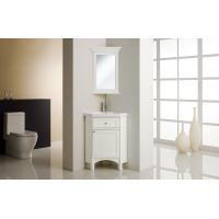 Quality Corner Solid Wood Bathroom Cabinet / Bathroom Vanities Painted Glue Basin wholesale