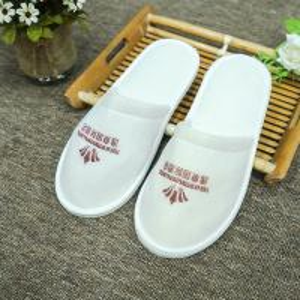 China Unisex White Soft Washable Disposable Bathroom Slipper on sale