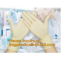 China Medical and daily use sterile latex surgical disposable gloves,Latex free powder free examination medical purple disposa on sale