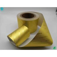 Quality 8011 Alloy Food Chocolate Cigarette Golden Frosting Surface Aluminum Laminated Foil Paper wholesale