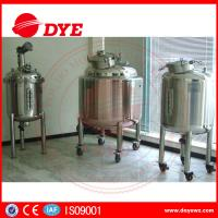 Quality DYE Steam Heating Stainless Steel Water Tanks Alcohol Yoghurt wholesale
